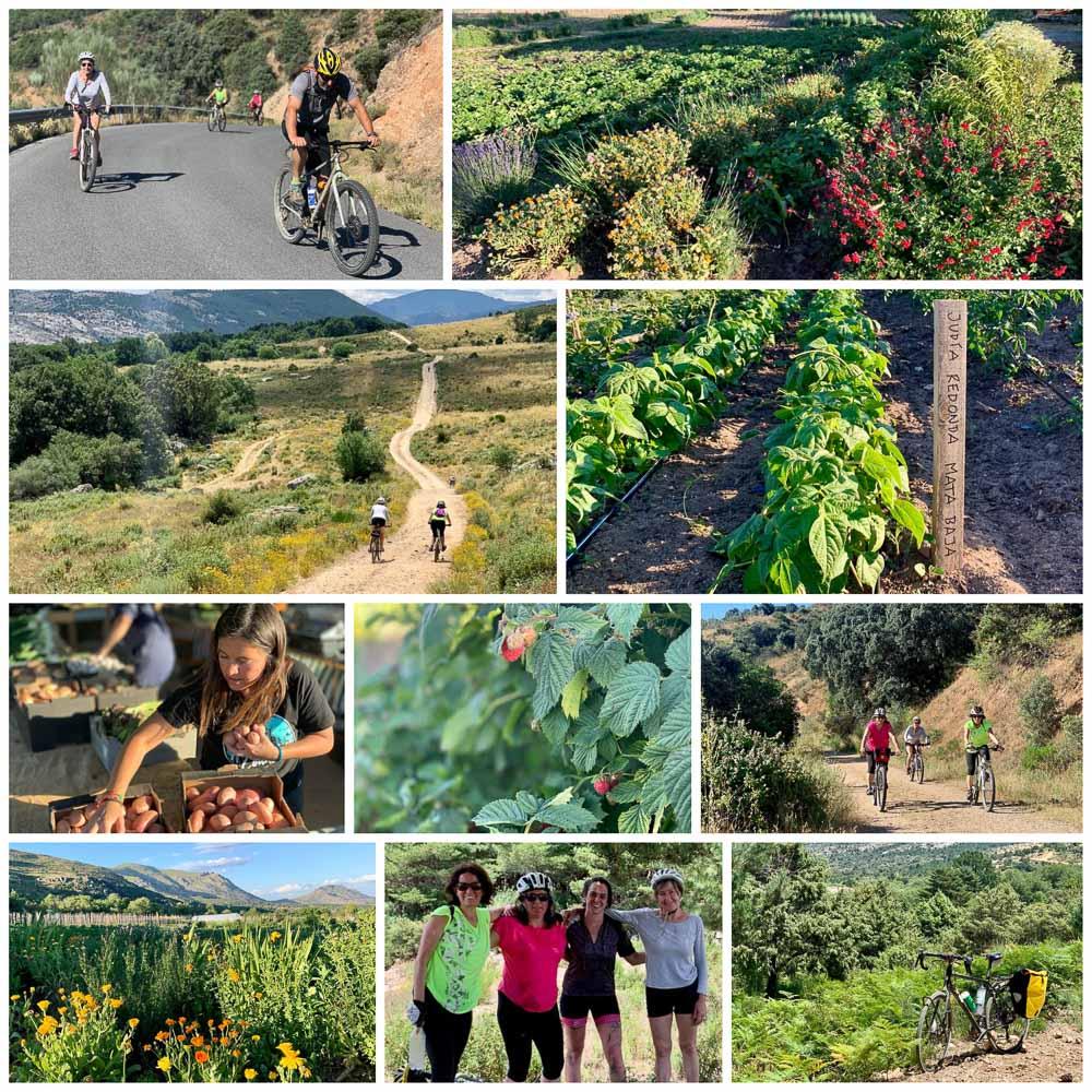 ¡Es domingo y hemos salido a pedalear con parte de «Serranas en bici»!